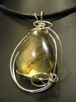 free form labradorite drop in silver by BacktoEarthCreations