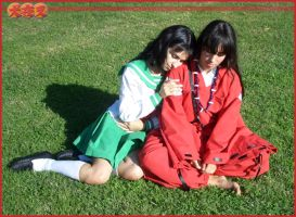 Human Inuyasha and Kagome 1 by MiayahMilles