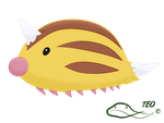 Pokemon Fusion - Sweedle by The-Emerald-Otter