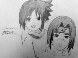 Young Sasuke and Itachi by Sasukelover0202