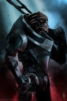 Mass Effect - The turian soldier by Artshardz