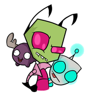 Invader Zim And His Evil Minions by PhantomhiveeArc