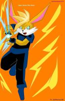 Super Saiyan Chris Bunny Request by LoonataniaTaushaMay