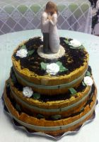 My FIRST Wedding Cake Creation by InkArtWriter