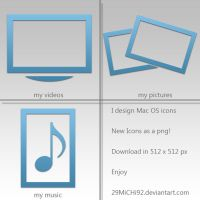 Blue Mac Icons by 29MiCHi92