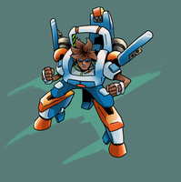 Jammin' Mecha by gsilverfish