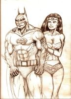 Wonder Woman and Batman by MisterHydesSon