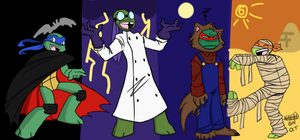 Tmnt Halloween by Nayhed