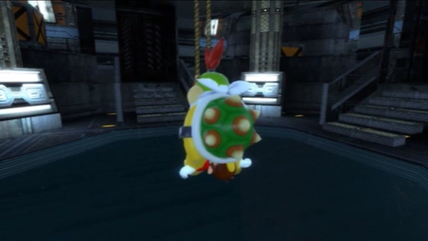 Bowser Jr Sits On Mario (View 1) by paul316pa