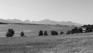 farm airport mountains by oddbjrnk
