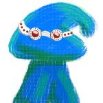 Blue Mushie with Goggles by Aquawyrm