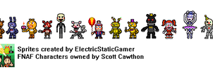 Five Night's at Freddy's Sprites (NEW) by ElectricStaticGamer