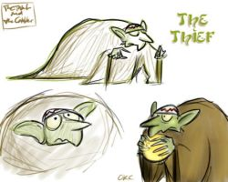 The Thief - sketches by Inonibird