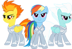 Rainbow Dash and The Wonderbolts by AuburnBorbon