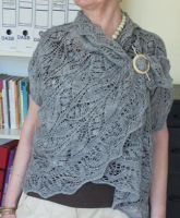 Endless knitted Cardi Shawl 1 by basia-hs