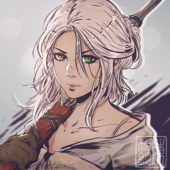 Ciri Sketch by Koyorin