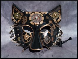 Copper Steampunk Leather Wolf Mask by Jedi-With-Wings