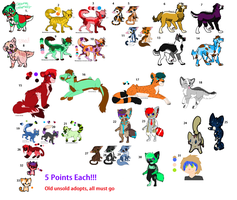 Old Unsold Adopts- 5 Points Each!! by DestryDoesAdopts
