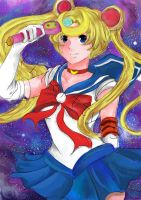 Sailormoon print unfinished by lilKitty09