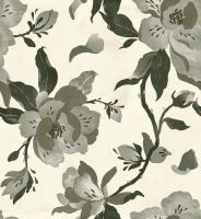 Black Magnolia Pattern by teaganwhite