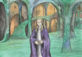 Finrod in Nargothrond by AnotherStranger-Me
