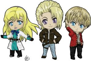 Resonance of Fate Trio Chibi by xStephirothx