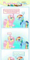 Flutterdash Comic - Be My Penguin  by miian123
