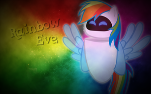 Rainbow Eve Wallpaper by LazyPixel