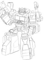 Optimus Prime sketch by ShinGallon