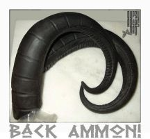 Back Ammon Horns in Black by che4u