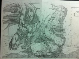 Batman pages 16 and 17 by Tomuribecastro