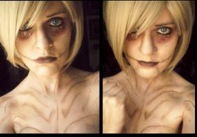 The female titan - Shingeki No Kyojin manga by YuukiCosplayer