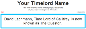 My Timelord Name by SciFiRocker