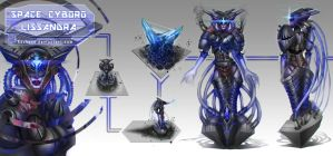 League of Legends_Lissandra_Space Cyborg_Concept by Kashuse