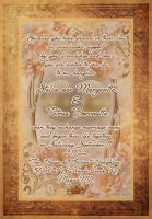 marriage invitation at Magna by magXlander