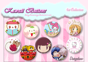 Kawaii Buttons - 1st Collection by DaisychanOrange