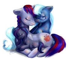 Pony Commission: Terrafirma, Starcrosser, Eventide by enigmatia