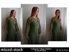 Authentic Viking Maiden Portrait Pack by mizzd-stock