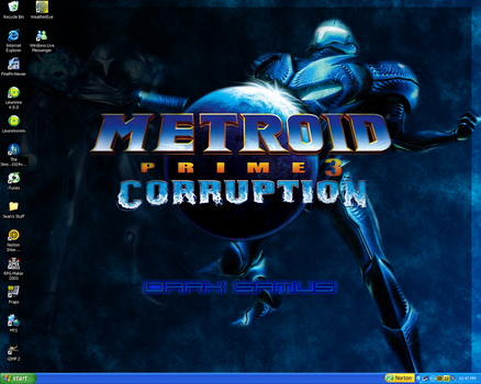 MP3 Dark Samus Desktop by Plishpla