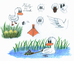 Fluffy Duck Reference Sheet by WishExpedition23