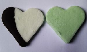 Peppermint and chocolate Patties Hearts by AmysFoodVariation