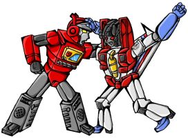 Favorite Blaster n Starscream by miraibaby