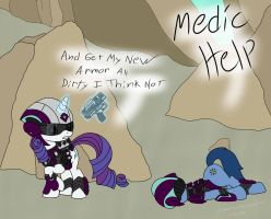 Rarity Is A Bad Medic by SpazzyMcnugget