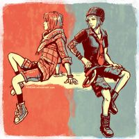 Life is Strange - Max and Chloe -  Alt outfits by Maarika