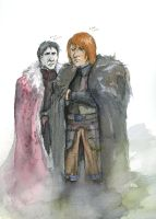 ASOIAF sketches -The King in the North by Tribemun