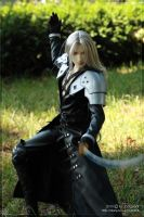 Sephiroth striking a pose by scargeear