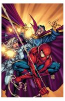 Avenging Spider Man Cover Flats By Kokokrans XGX by knytcrawlr