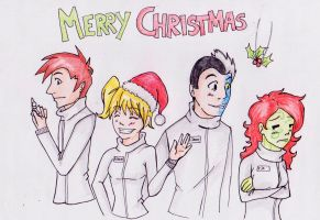 Merry Christmas at Arkham by ChaosTheDawn