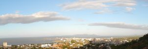 Panoramic view of my town by SGreavesPhotography