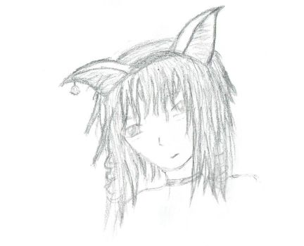 FanArt Attempt Miho w/cat ears by MTohya
